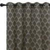 Urban Hues 1 Piece  Window, Door Curtains -(Brown-Floral Damask)