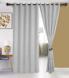 Urban Hues 1 Piece  Window,Door Curtain (Grey-Leaf)