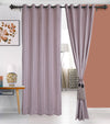 Urban Hues 1 Piece  Window, Door Curtains -(Rose Gold-Strips)