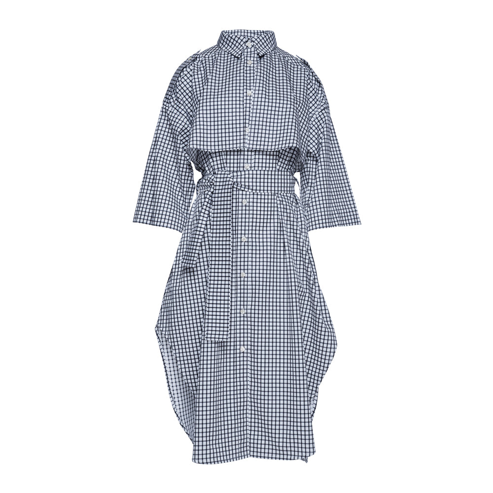Trench Safari Shirt Dress / chess check