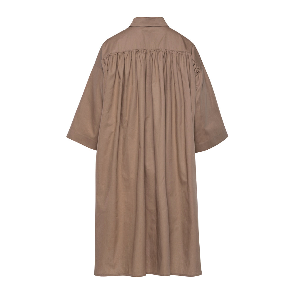 Ruched Back Dress / safari