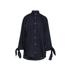 Bow Sleeve Shirt / black