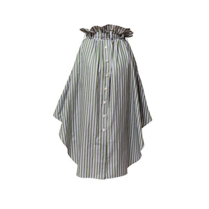 Shirt Skirt Midi / meadow stripes