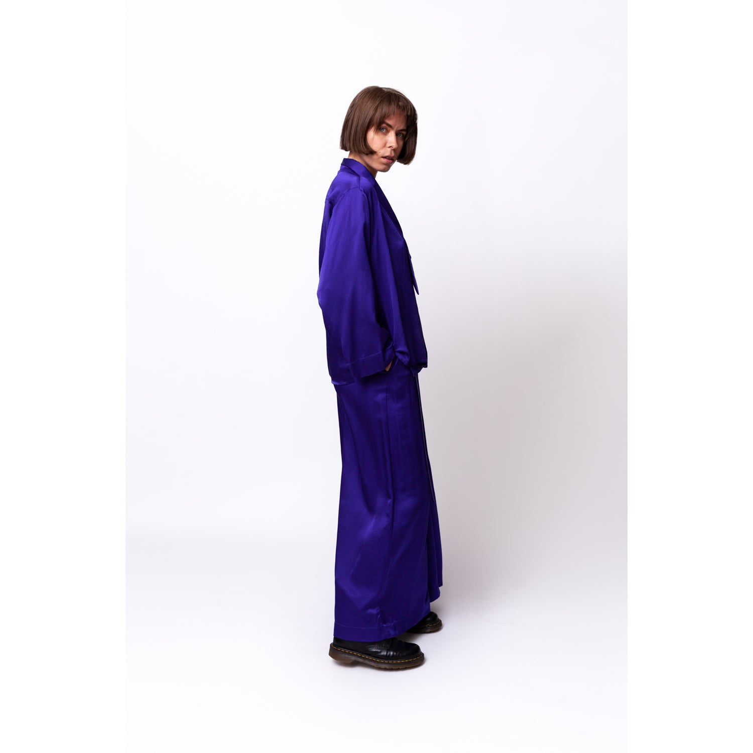 Floaty Wrap Pants / cornflower nights
