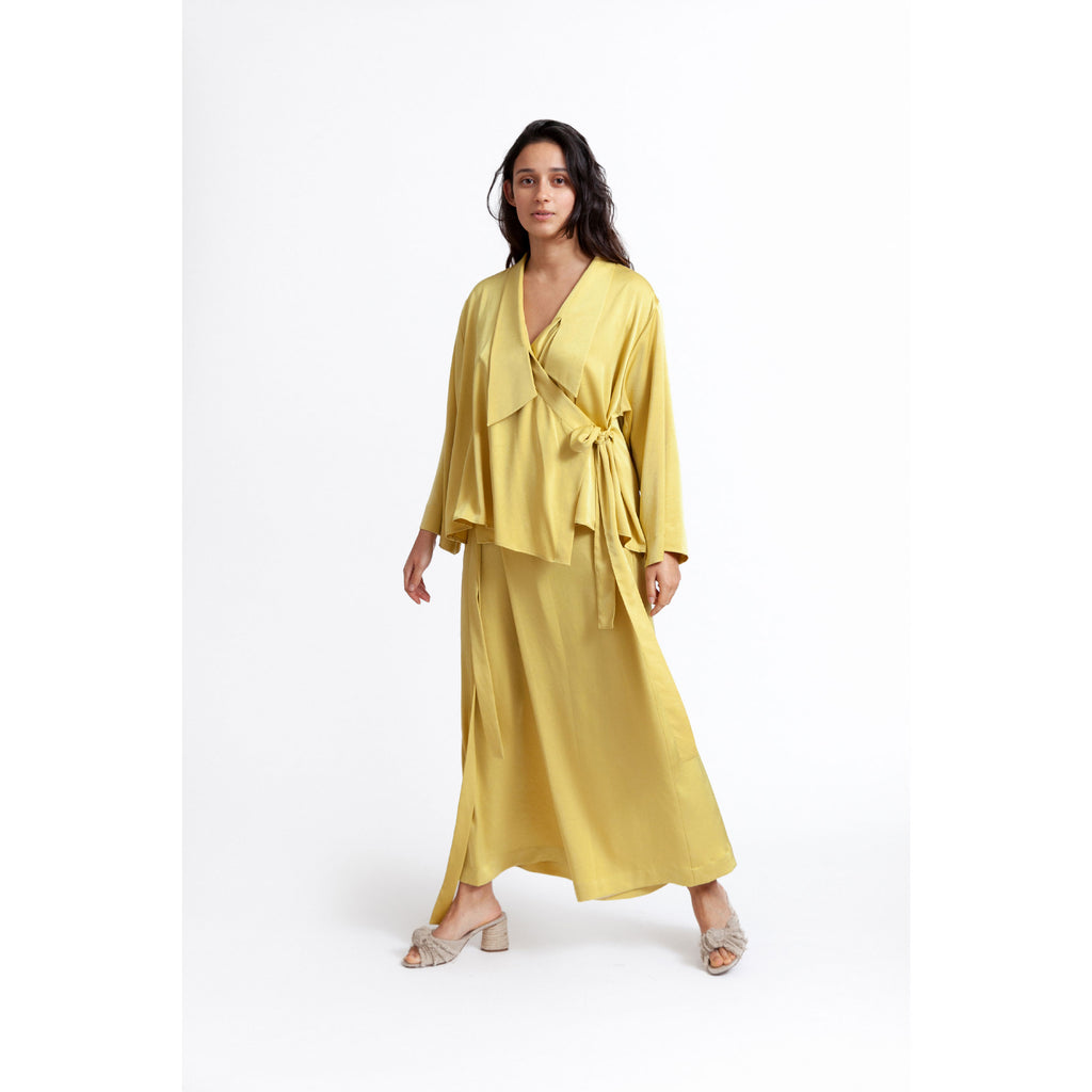 Floaty Wrap Shirt / golden slumber