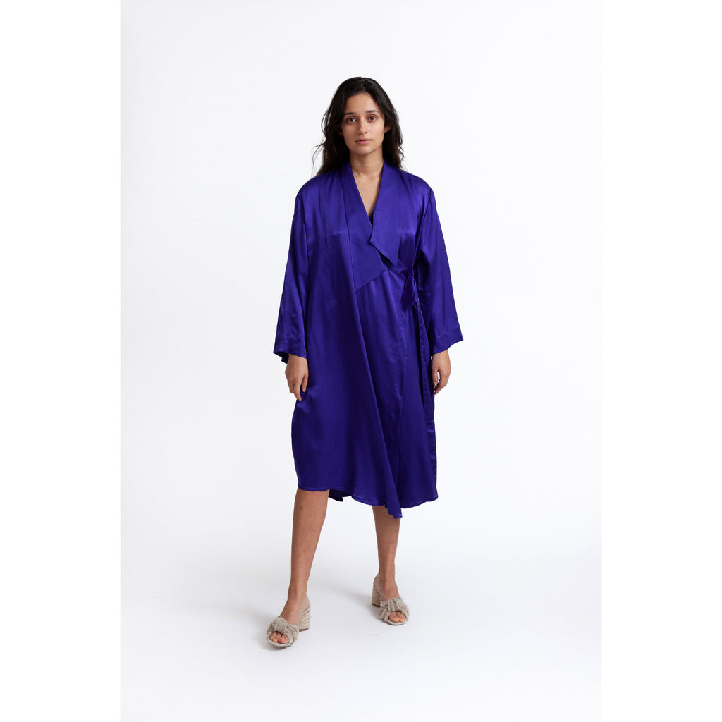 Floaty Wrap Dress / cornflower nights