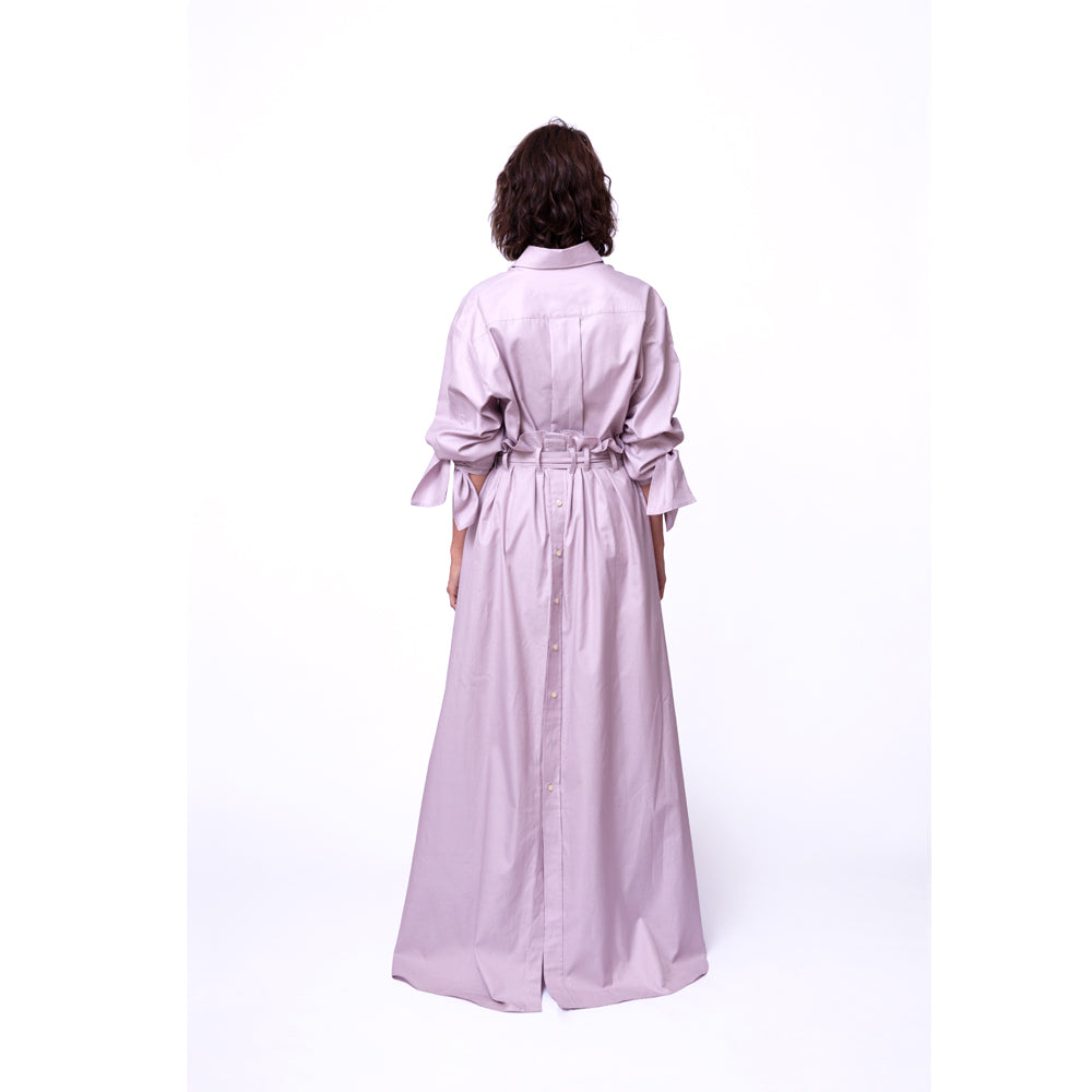 Shirt Skirt Long / dusty rose