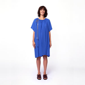 Ruched Neck Dress / pool