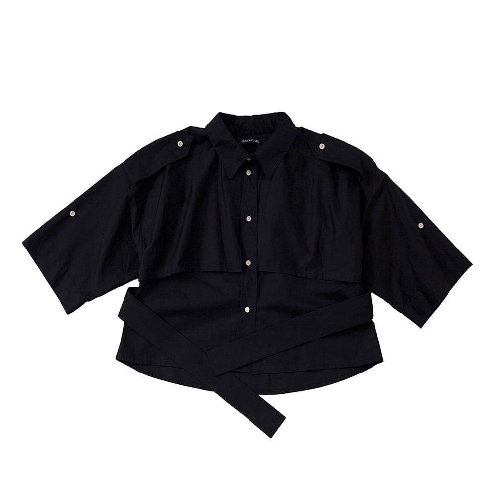 Trench Safari Shirt / black