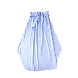 Shirt Skirt Long / organic blue