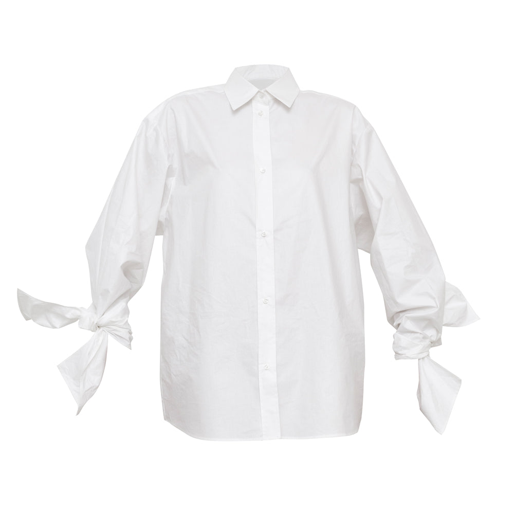 Bow Sleeve Shirt / archive / crispy white