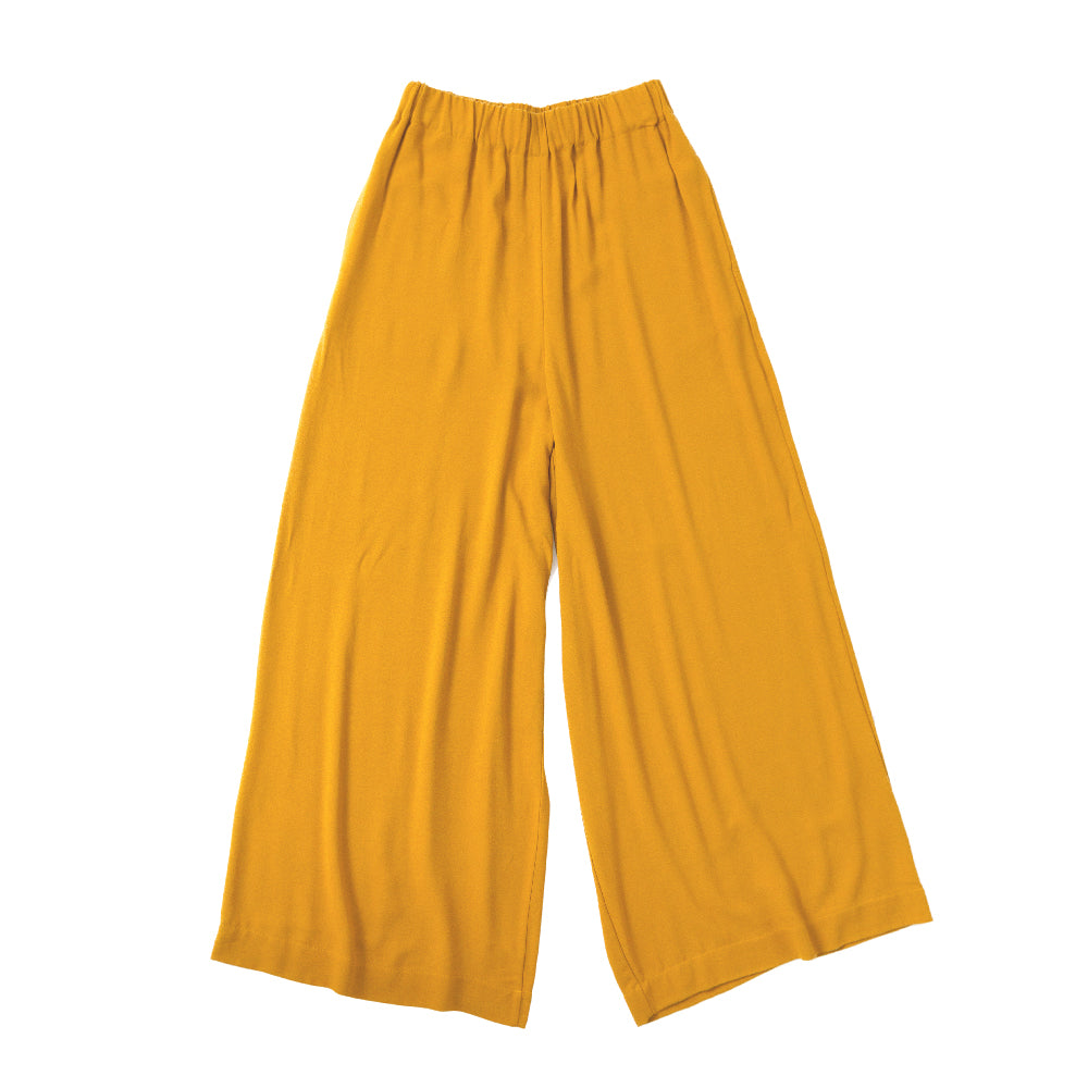 Wide Elastic Pants / curry
