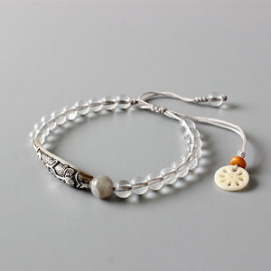 Pure Crystal Beads with Silver Accents
