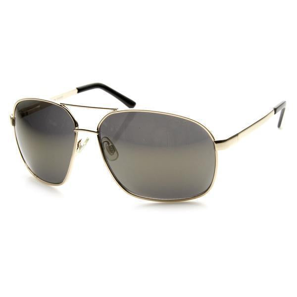 Ace - Polarized Square Frame Mirrored Sunglasses