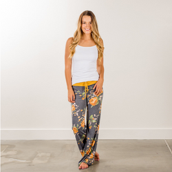 Casual Floral Printed Loose Yoga Pants For Women