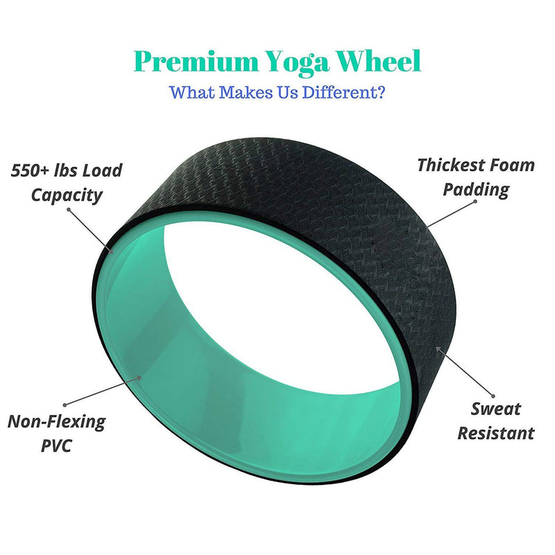 Strongest and Most Comfortable Dharma Yoga Prop Wheel, Perfect Accessory for Stretching and Improving Backbends