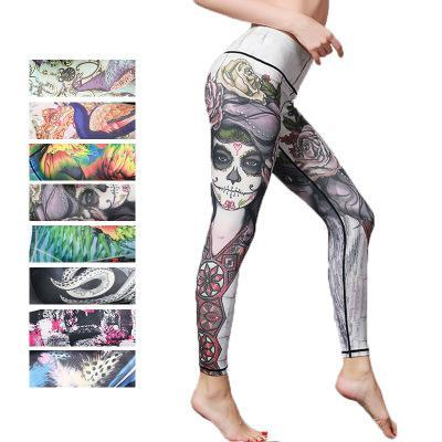 Full-Length Printed Yoga Pants,Workout Leggings