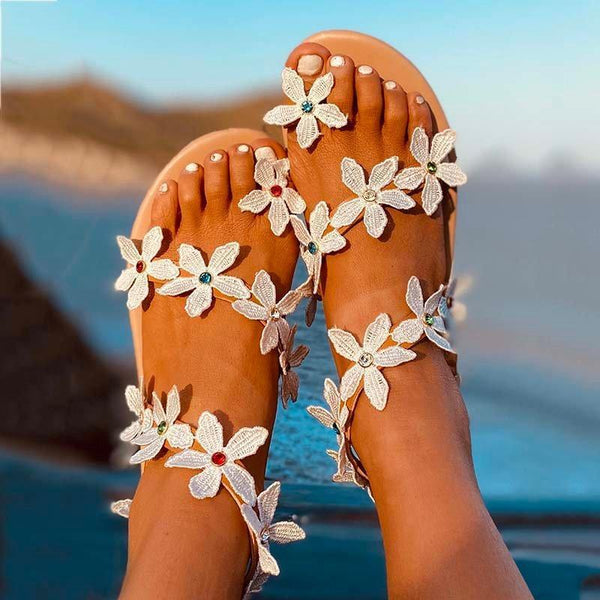 Women Beach Boho Sandal Shoes