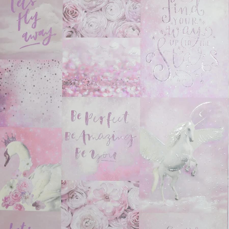 Arthouse Pandora Dream Pink Glitter Wallpaper Sample - 692700