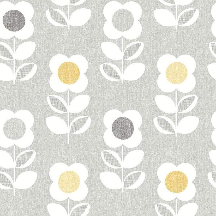 Arthouse Retro Flower Grey/Yellow Sample - 901907