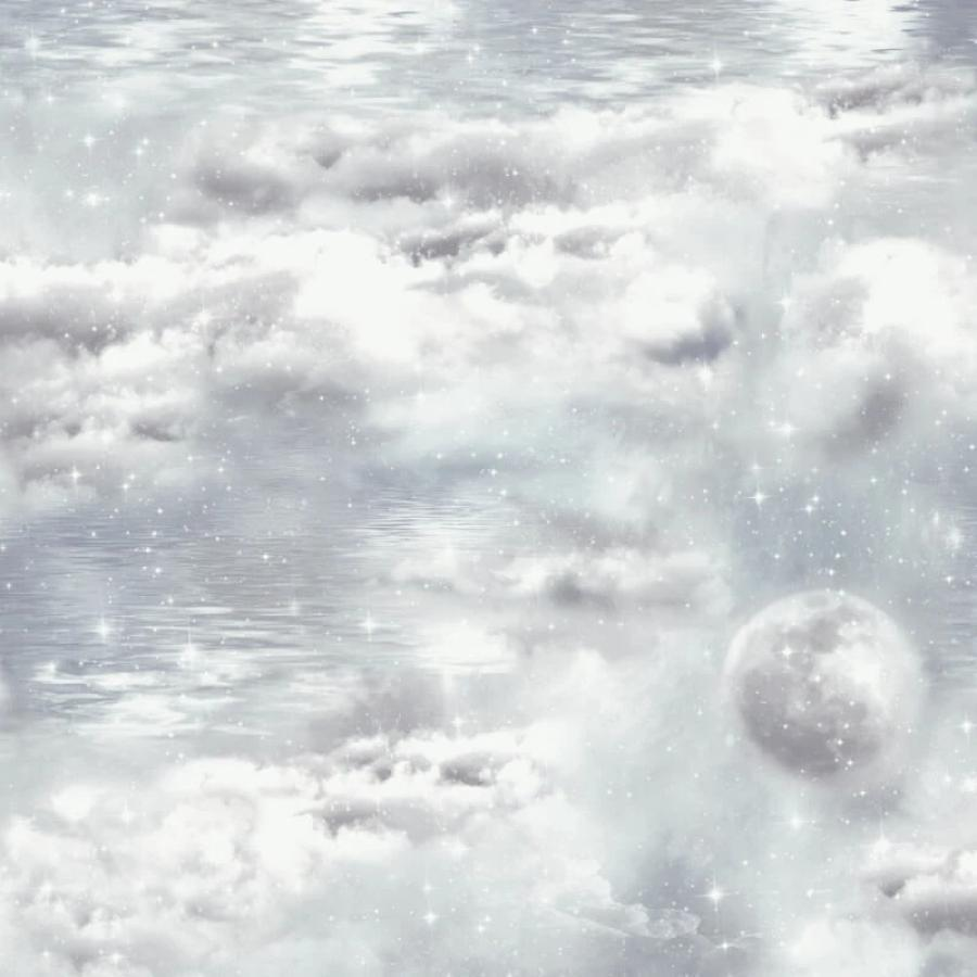 Arthouse Water Skies Grey Glitter Wallpaper Sample - 692500