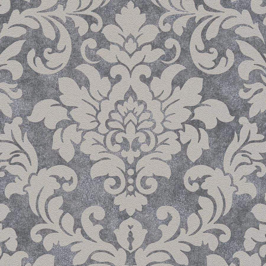 AS Creations Diamonds Damask Beige/Grey Wallpaper Sample - 37270-1 AS Creations Diamonds Damask Beige/Grey Wallpaper Sample - 37270-1