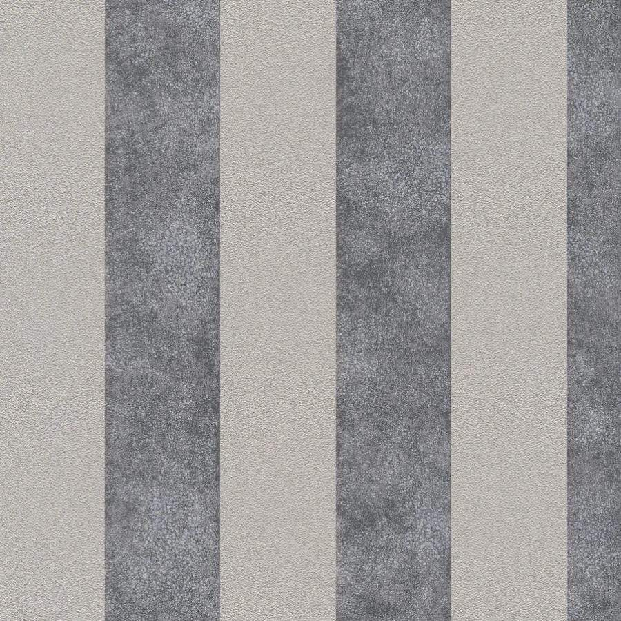 AS Creations Diamonds Stripe Beige/Grey Wallpaper Sample - 37271-1