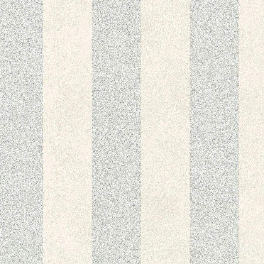 AS Creations Diamonds Stripe Grey/White Wallpaper Sample - 37271-2