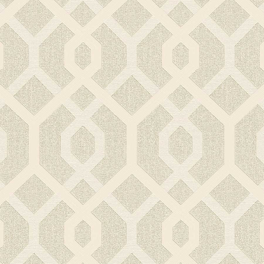 AS Creations Geo Gold Trellis Wallpaper Sample - 36874-4