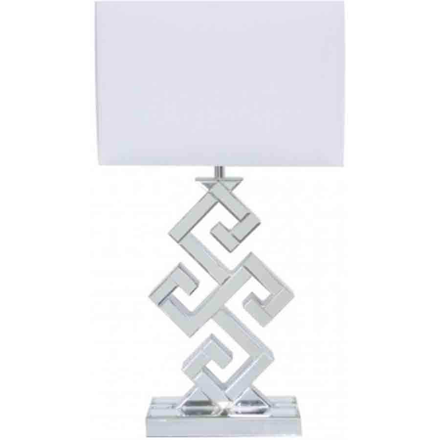 Aster Clear Glass Table Lamp With White Shade