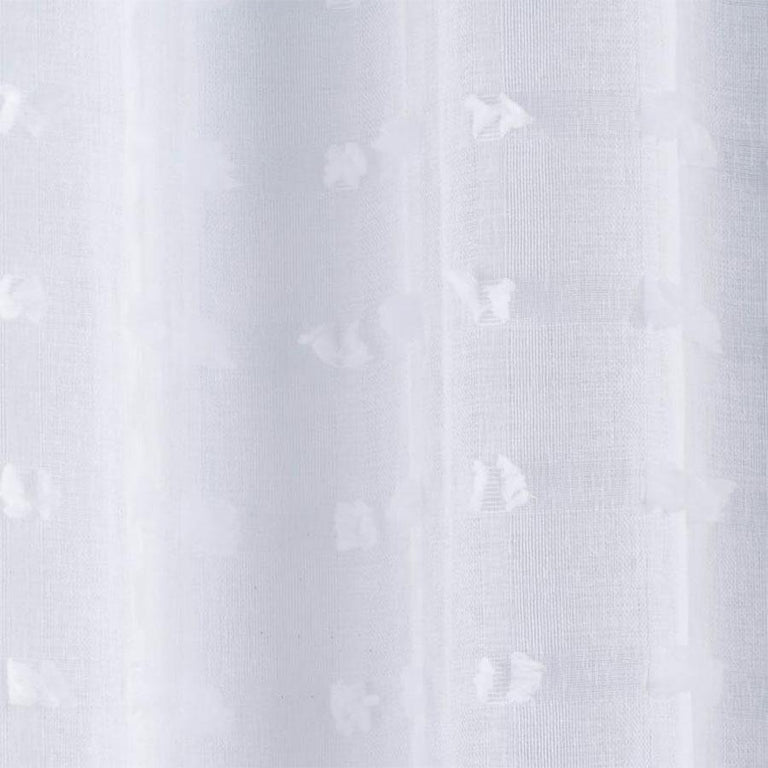 Bali White Voile Panel Curtain