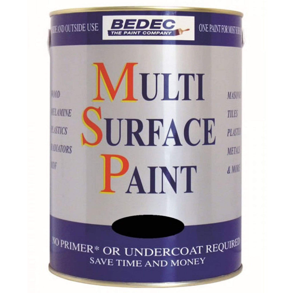 Bedec Multi Surface Black Gloss Paint 750ml