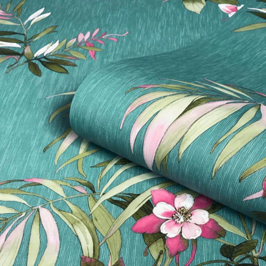 Belgravia Botanique Floral Teal Wallpaper Sample - 3420 Belgravia Botanique Floral Teal Wallpaper Sample - 3420