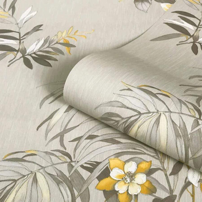Belgravia Botanique Floral Yellow/Cream Wallpaper Sample - 3423 Belgravia Botanique Floral Yellow/Cream Wallpaper Sample - 3423
