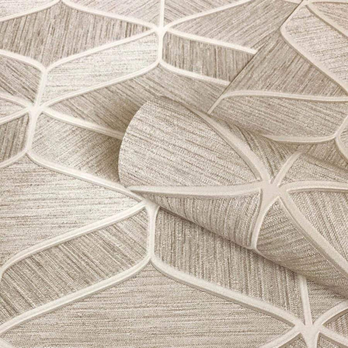 Belgravia Luciano Soft Beige Geometric Wallpaper Sample - 3853 Belgravia Luciano Soft Beige Geometric Wallpaper Sample - 3853