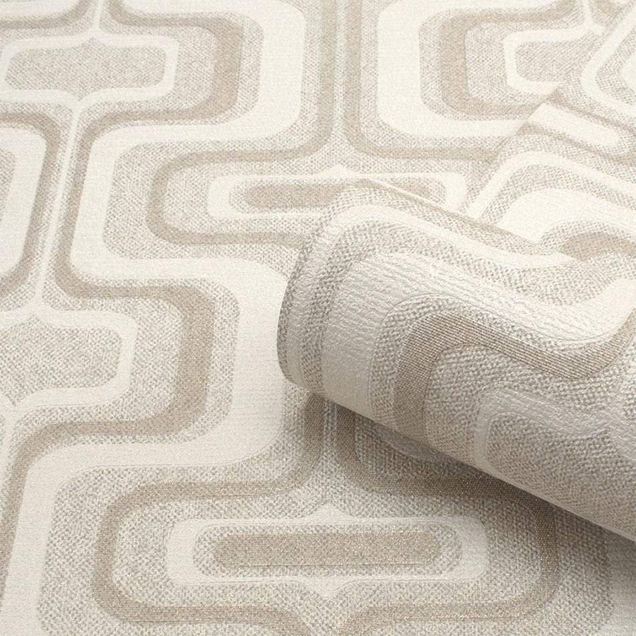 Belgravia San Remo Geometric Natural Wallpaper Sample - 6511