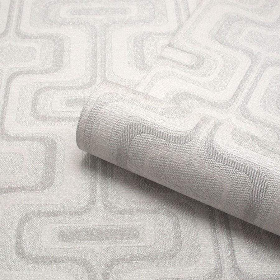 Belgravia San Remo Geometric Smoke Wallpaper - 6513