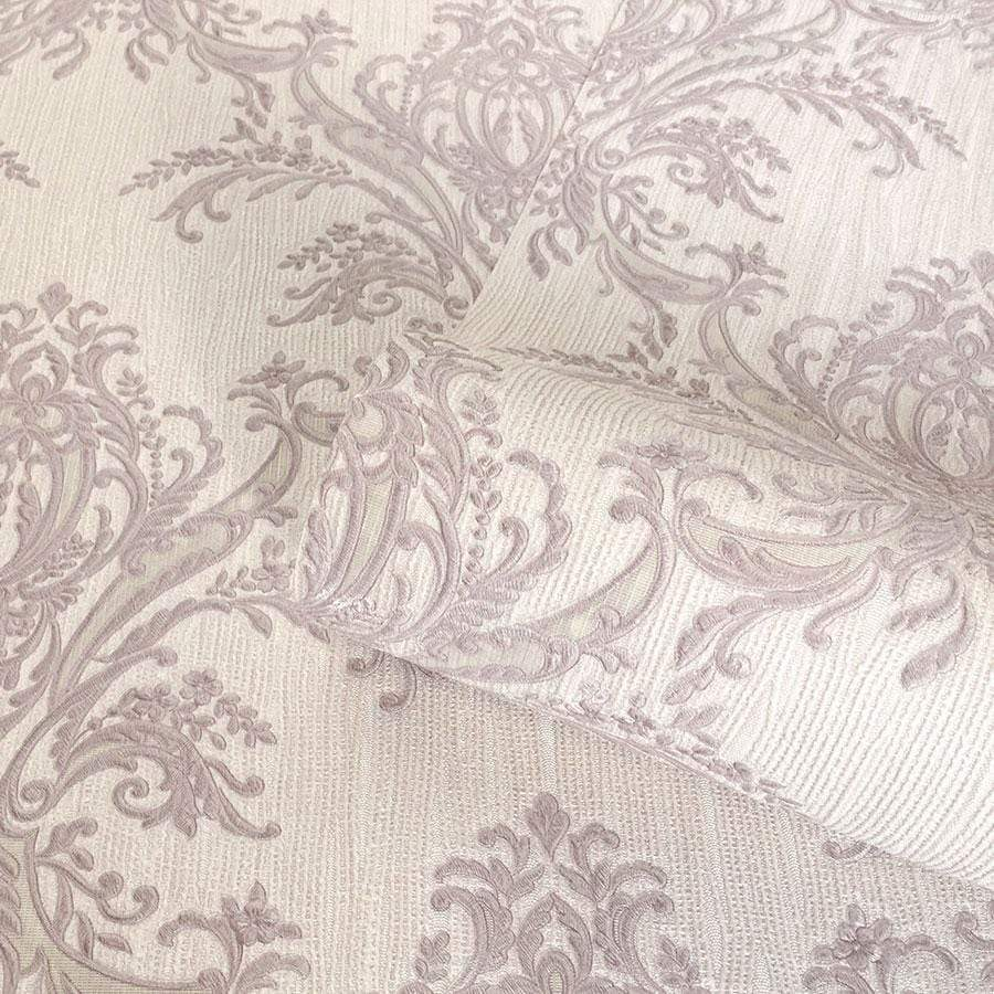 Belgravia Sofia Heather Damask Textured Wallpaper - 6341