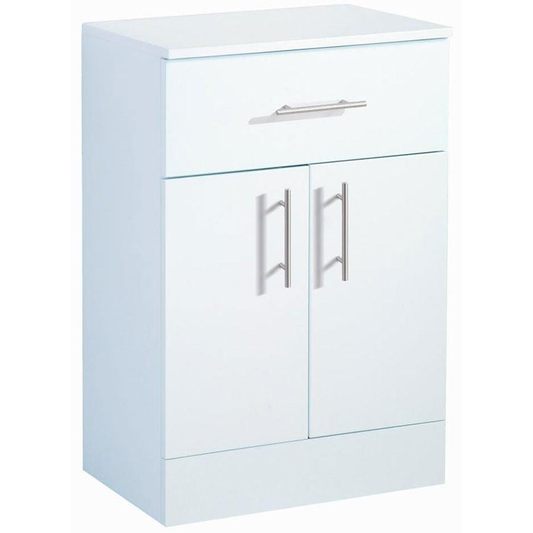 Blue Canyon Canterbury White Single Drawer Floor Cabinet