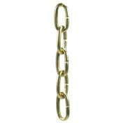 Chain Products 3.4mm Twisted Brass Decorative Chain Reel