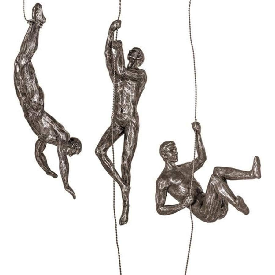 Climbing Figures Set Of Three Copper/Gold