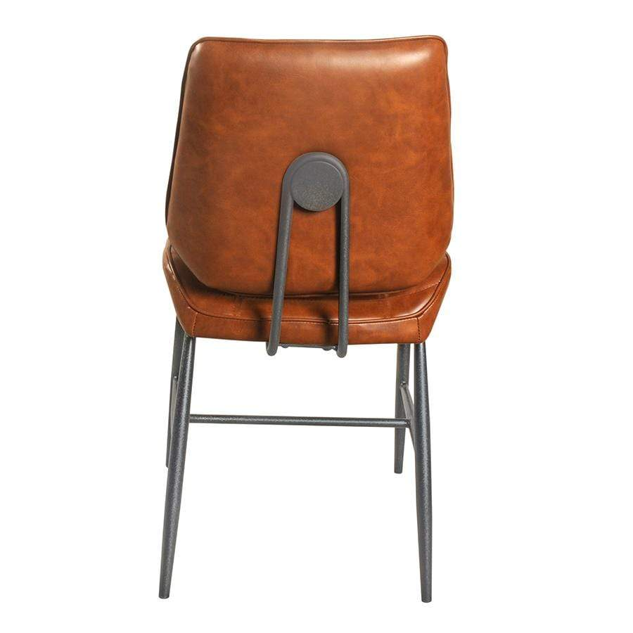 Cortina Tan Vegan Leather Dining Chair - Set of 2