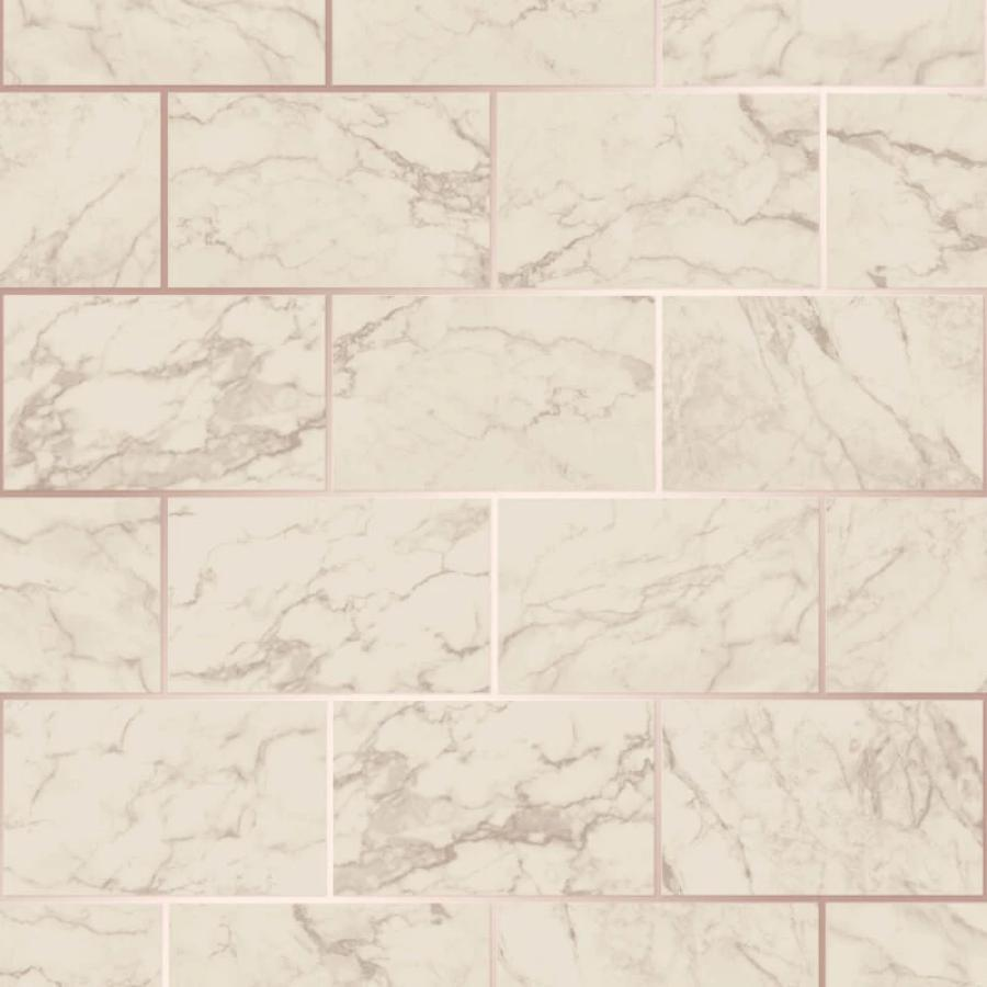 CWV Metro Marble Effect Rose Gold Brick Wallpaper Sample - M1510 CWV Metro Marble Effect Rose Gold Brick Wallpaper Sample - M1510