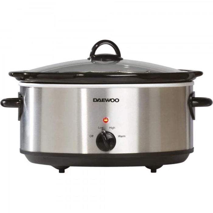 Daewoo 6.5 Litre Stainless Steel Slow Cooker Daewoo 6.5 Litre Stainless Steel Slow Cooker
