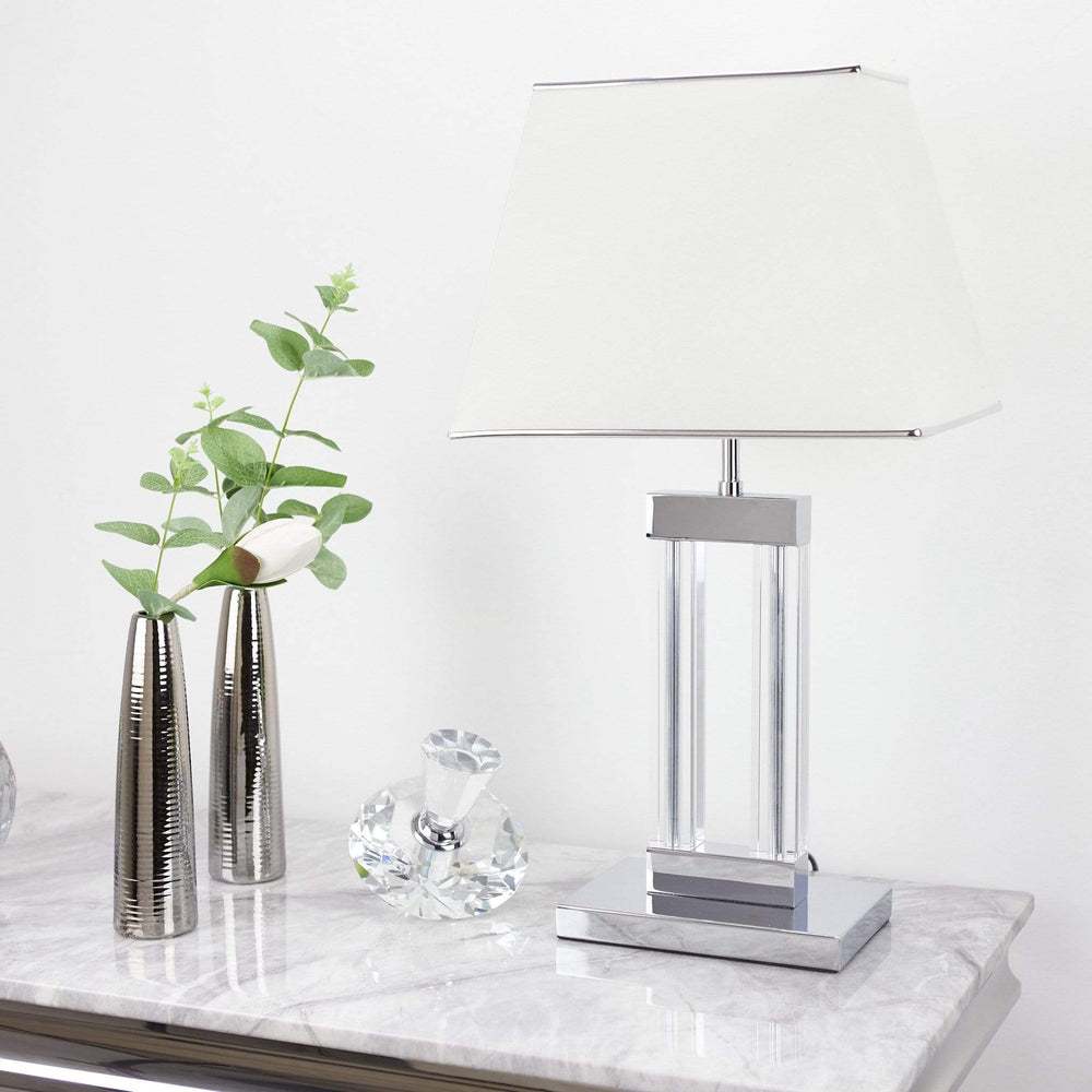 Domain Table Lamp Quartz Glass Complete With Shade DOM12