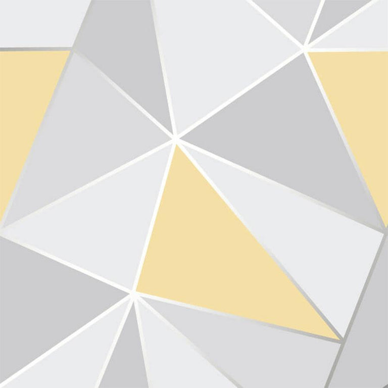 Fine Decor Apex Geo Yellow/Grey Wallpaper Sample - FD41991