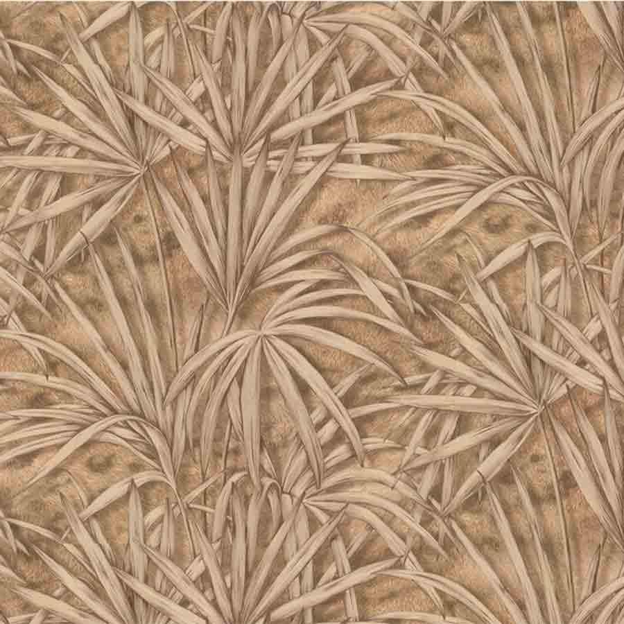 Fine Decor Gold/Brown Palm Tree Glitter Wallpaper - 88762