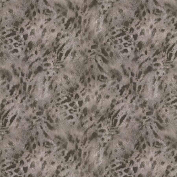 Fine Decor Grey/Gold Jaguar Faux Fur Sample - 88757