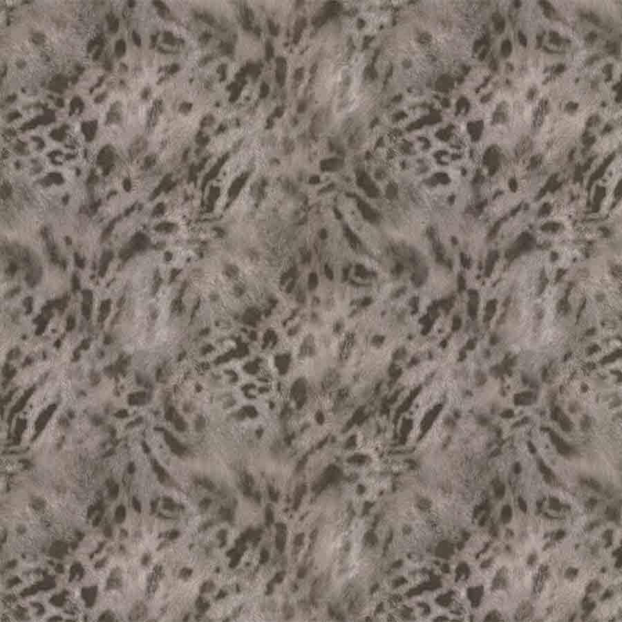 Fine Decor Grey/Gold Jaguar Faux Fur Wallpaper - 88757