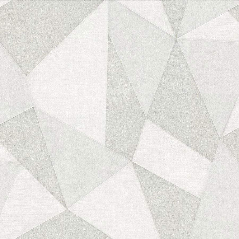 Fine Decor Milano Fractal Light Grey Wallpaper - M95599